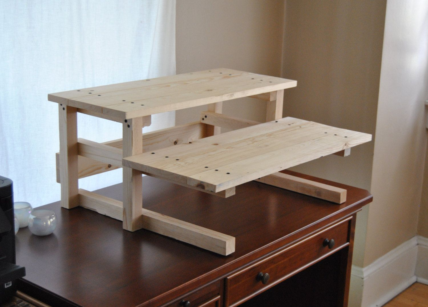 Diy Project Plan Two Monitor Standing Computer Desk Diy Project Plan Diy Standing Desk Diy Desk Plans Diy Projects Plans