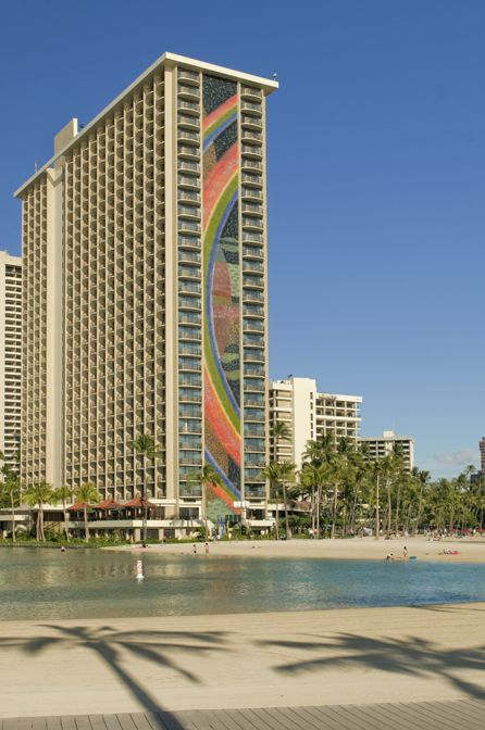 Rainbow Tower At Hilton Hawaiian Village Resort And Spa C Hotels Resorts One Of The Largest Mosaics In World Yeah I Stayed There