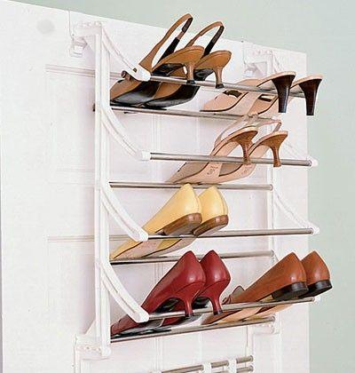 Diy Over The Door Shoe Holder Bar Pinterest Shoe Holders