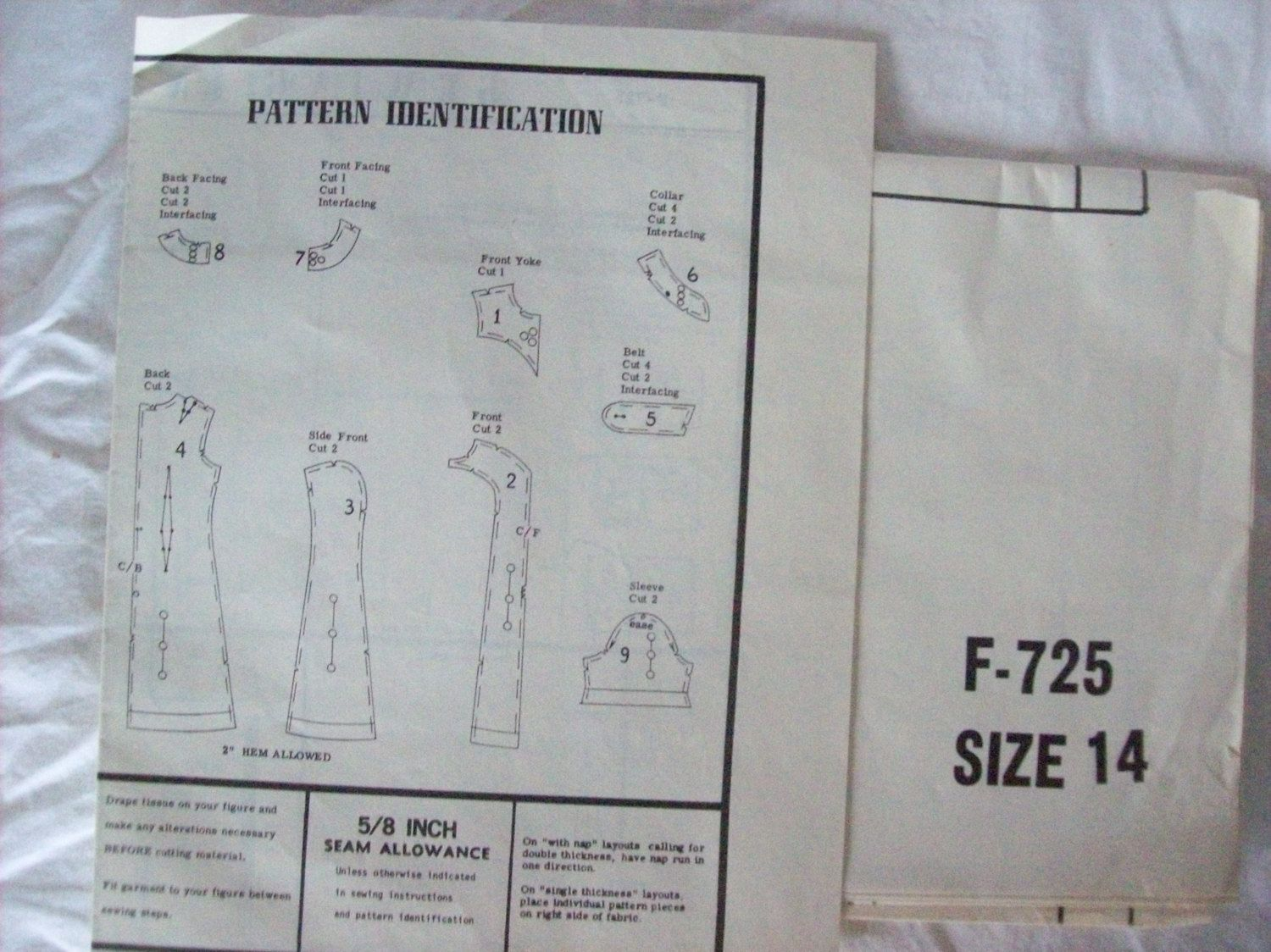 Fashion Pattern F 725 Ladies Simple A-Line Dress by oldoakchair