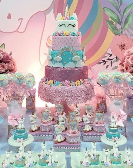 Whimsical Unicorn Birthday Party Ideas Unicorn Birthday Cake Unicorn Birthday Unicorn Cake