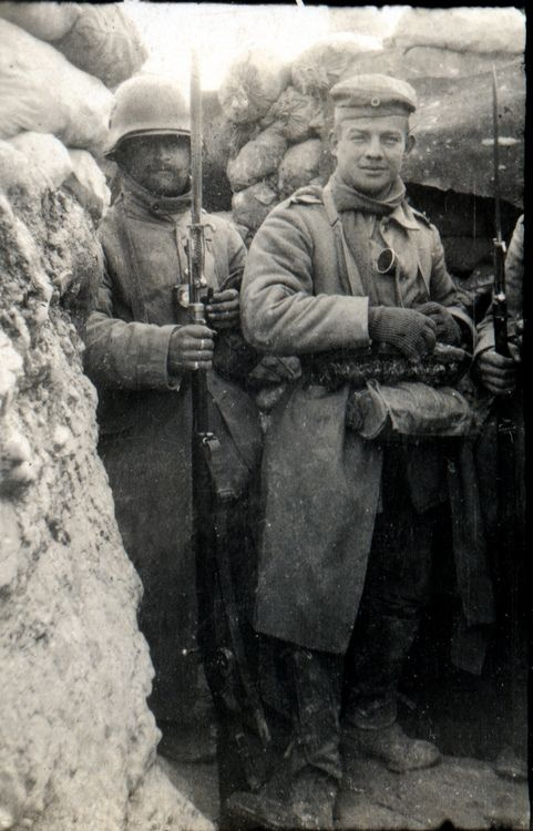 Winter in the trenches, 1917.