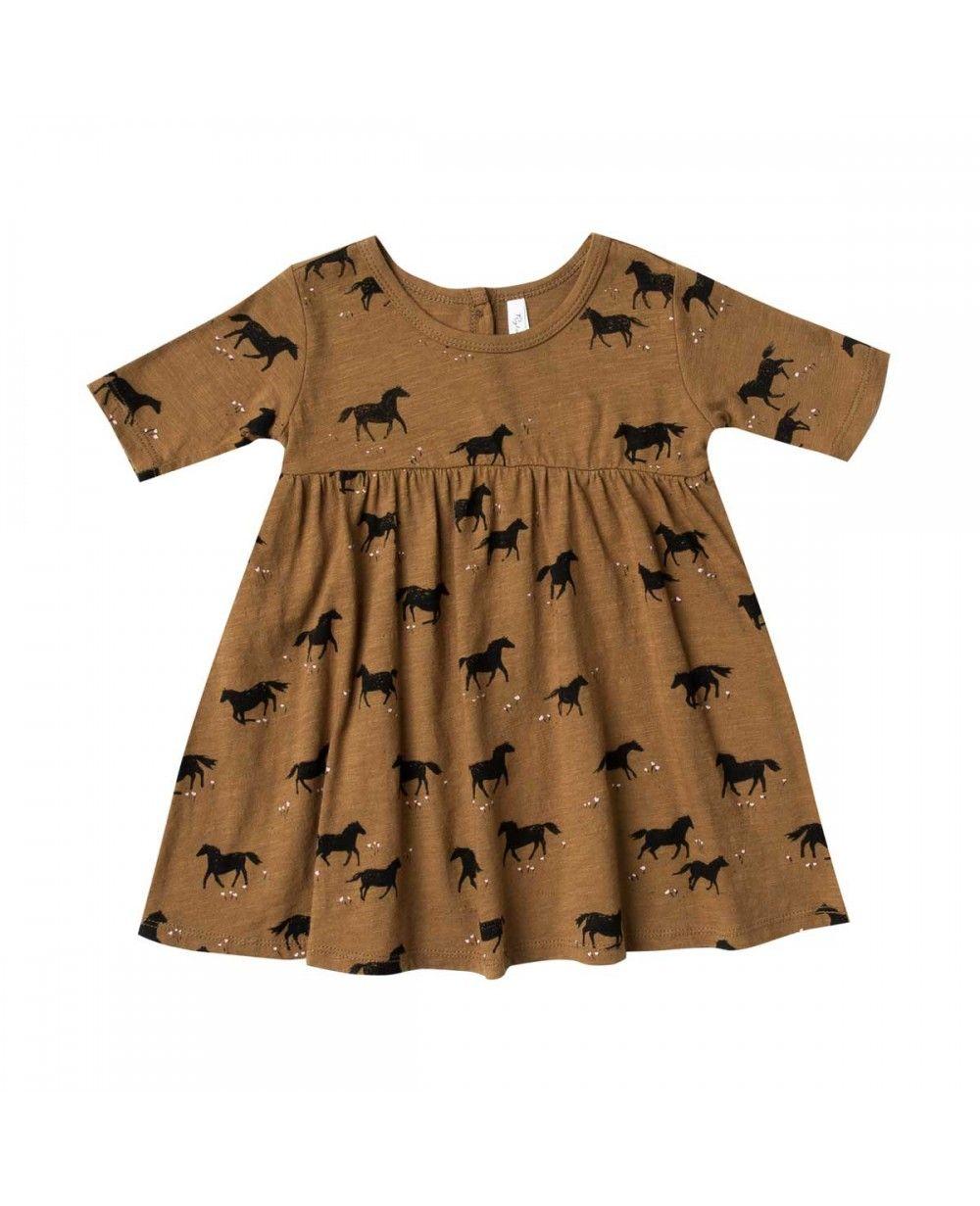 df28686f58b300 Horses Finn Baby Dress - Rylee + Cru Online - Baby