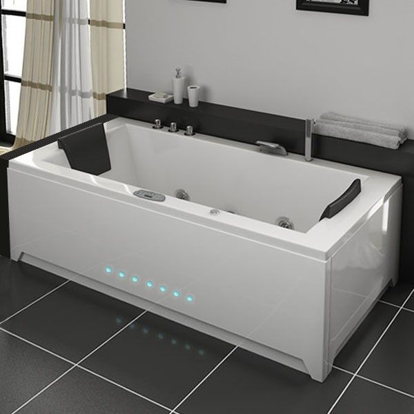 london baignoire baln o rectangulaire whirlpool 32 jets salle de bain tendance lignes simples. Black Bedroom Furniture Sets. Home Design Ideas