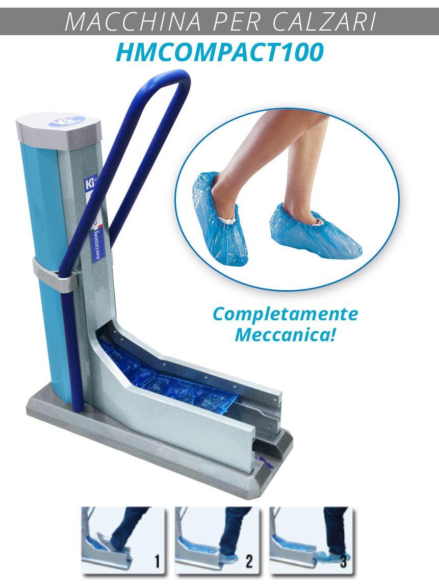 HMCOMPACT100. La rivoluzionaria Macchina per Calzari completamente meccanica. ZERO costi di elettricità.