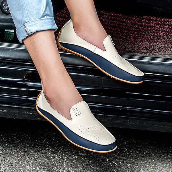 US Size 6.5-11.5 Men Shoes Outdoor Casual Round Toe Slip On Breathable Flats…