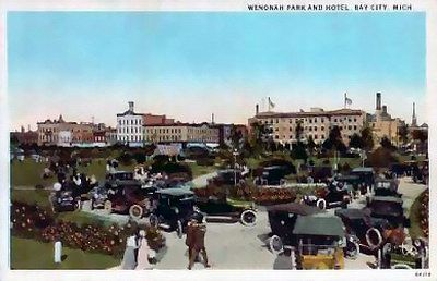 Wenonah Hotel Before It Was Destroyed By Fire Downtown At Its Best Myhometownpins Michigan Pinterest Bay City And