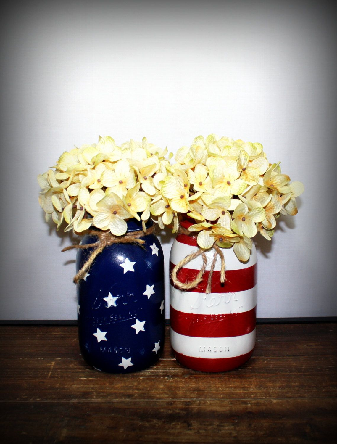 American flag kerr mason jar made in america red white and blue