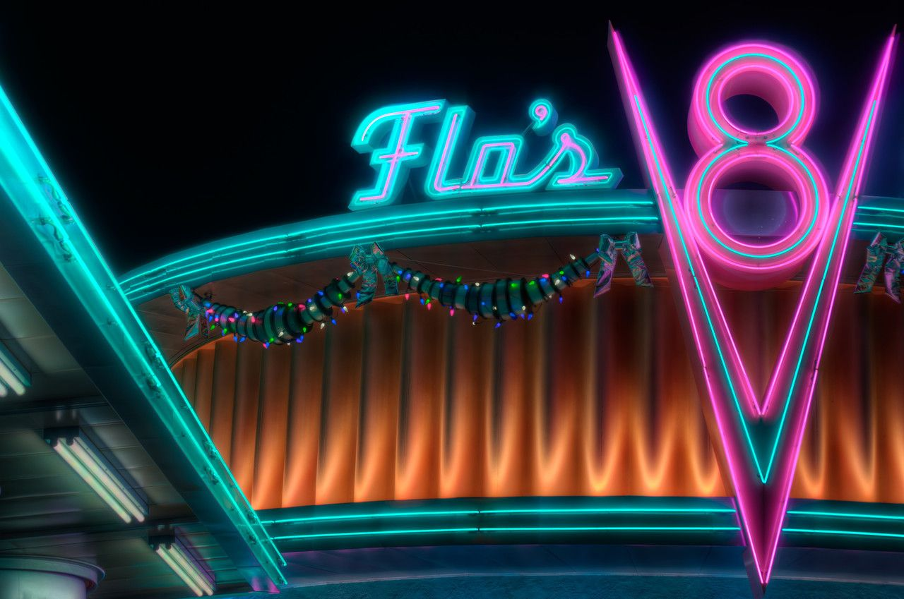 THE FILTERS WERE HUNG BY THE DINER WITH CARE Disneyland