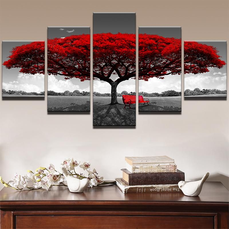 Abstract Canvas Print Photo Wall Art Painting Home Decor Poster Landscape Trees