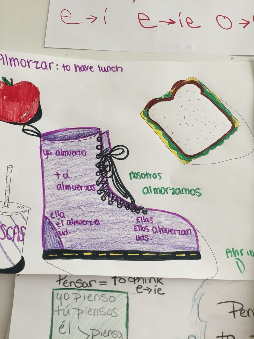 This is a fun activity we did in my Spanish II class for stem-changing verbs!