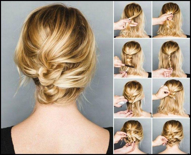 Hochsteckfrisuren Mittellange Haare Friseur Frisuren Pinterest