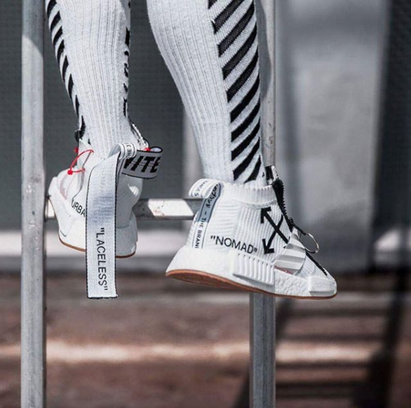 OFFWHITE x adidas NMD City Sock Customs is part of Adidas nmd outfit -