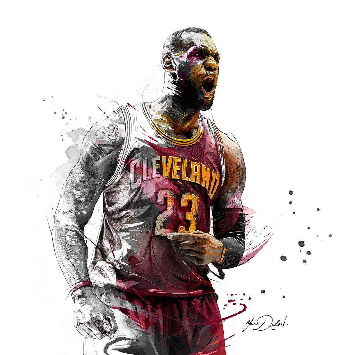 My illustration of Lebron James ,Cleveland Cavaliers