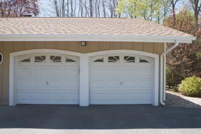 How To Convert A 2 Car Garage Into Living Space Hunker Garage Exterior Garage Door Window Inserts Garage Door Windows