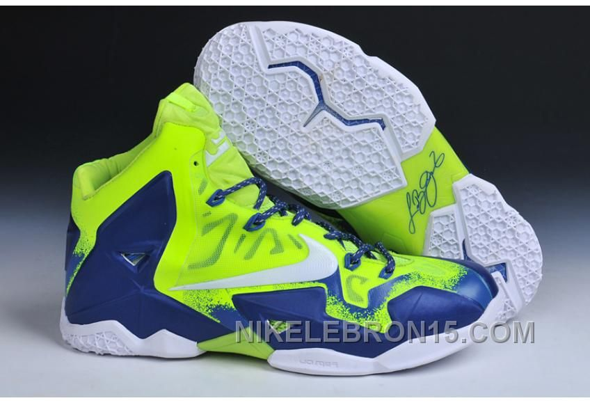 Buy Nike LeBron 11 Custom Sapphire Fluorescent Green Authentic ItsttDm from Reliable Nike LeBron 11 Custom Sapphire Fluorescent Green Authentic ItsttDm