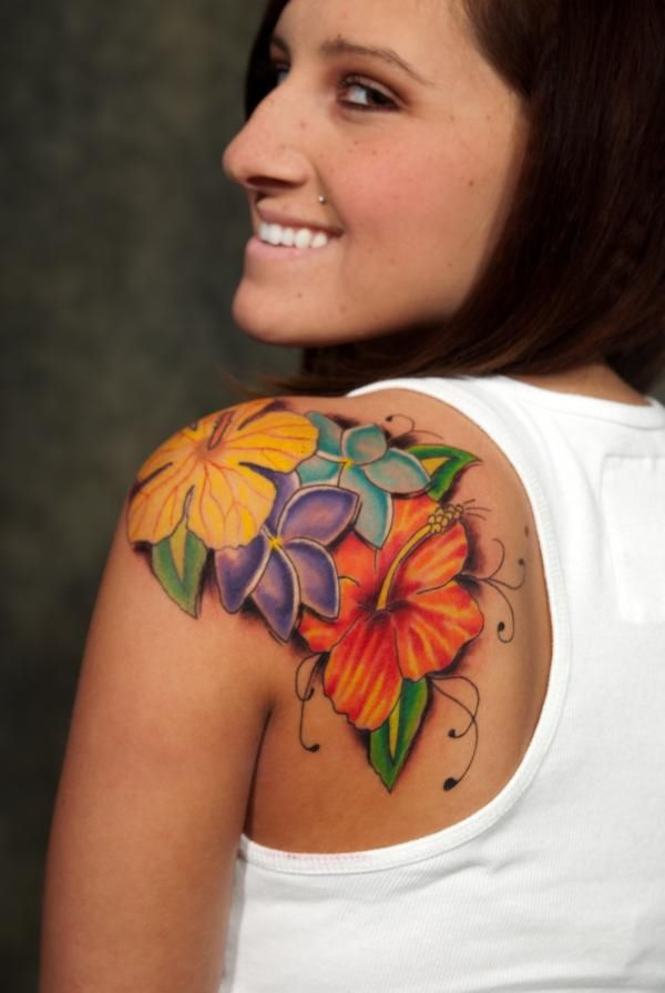 Not A Fan Of The Flowers But I Like The Placenta And Color Tats