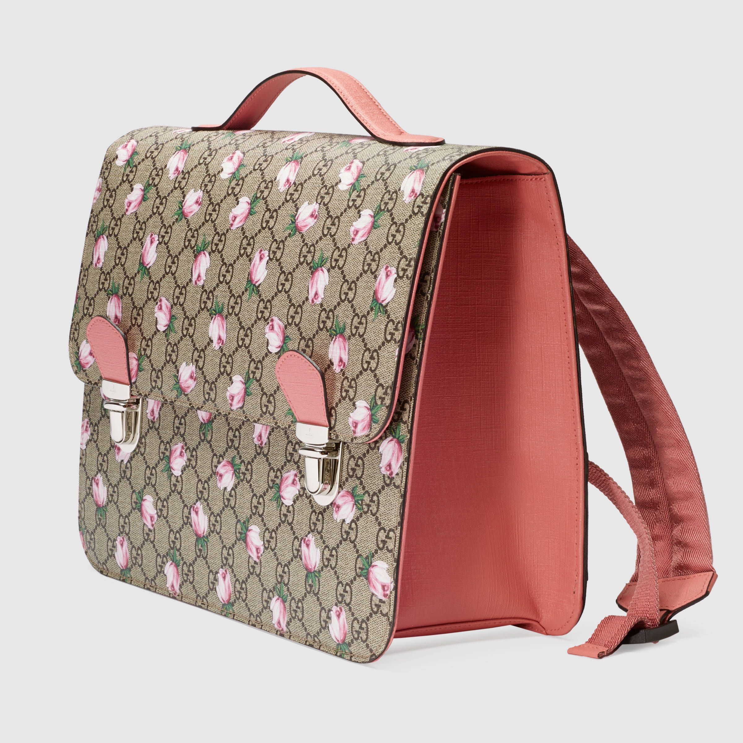 425f32d0e933 Gucci Children - Children's GG flowers backpack | Kiddie Accessories ...