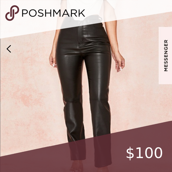 House Of Cb Inaya Vegan Leather Trousers Size S In 2020 Leather Pants Leather Trousers Beautiful Pants