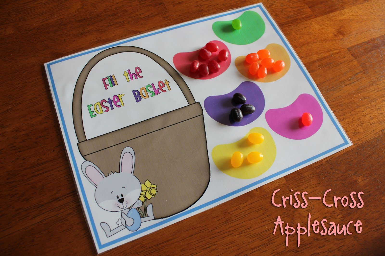 Jelly Bean Color Game With Free Printable From Criss Cross Applesauce