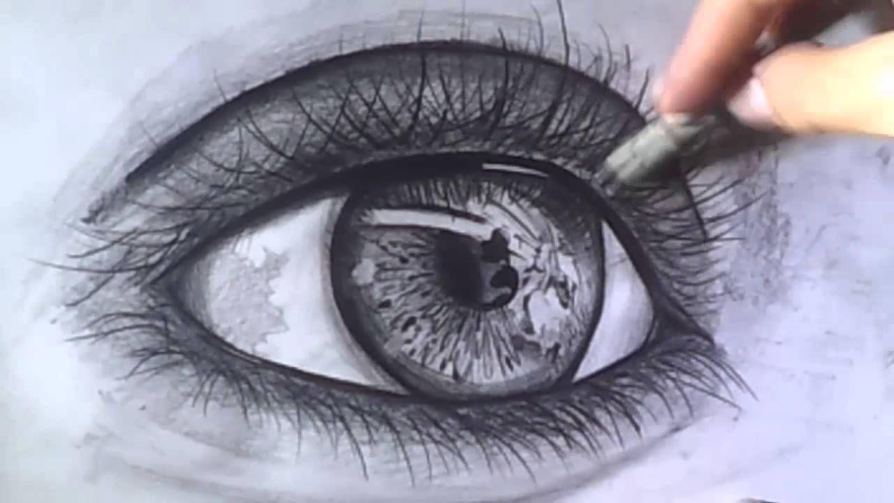 Dibujos Bonitos Y Faciles Para Colorear: Como Dibujar Ojos Realistas A Lapiz