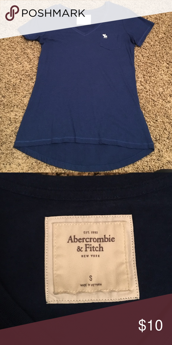 Navy blue vneck Small navy blue Abercrombie vneck tee Abercrombie & Fitch Tops Tees - Short Sleeve