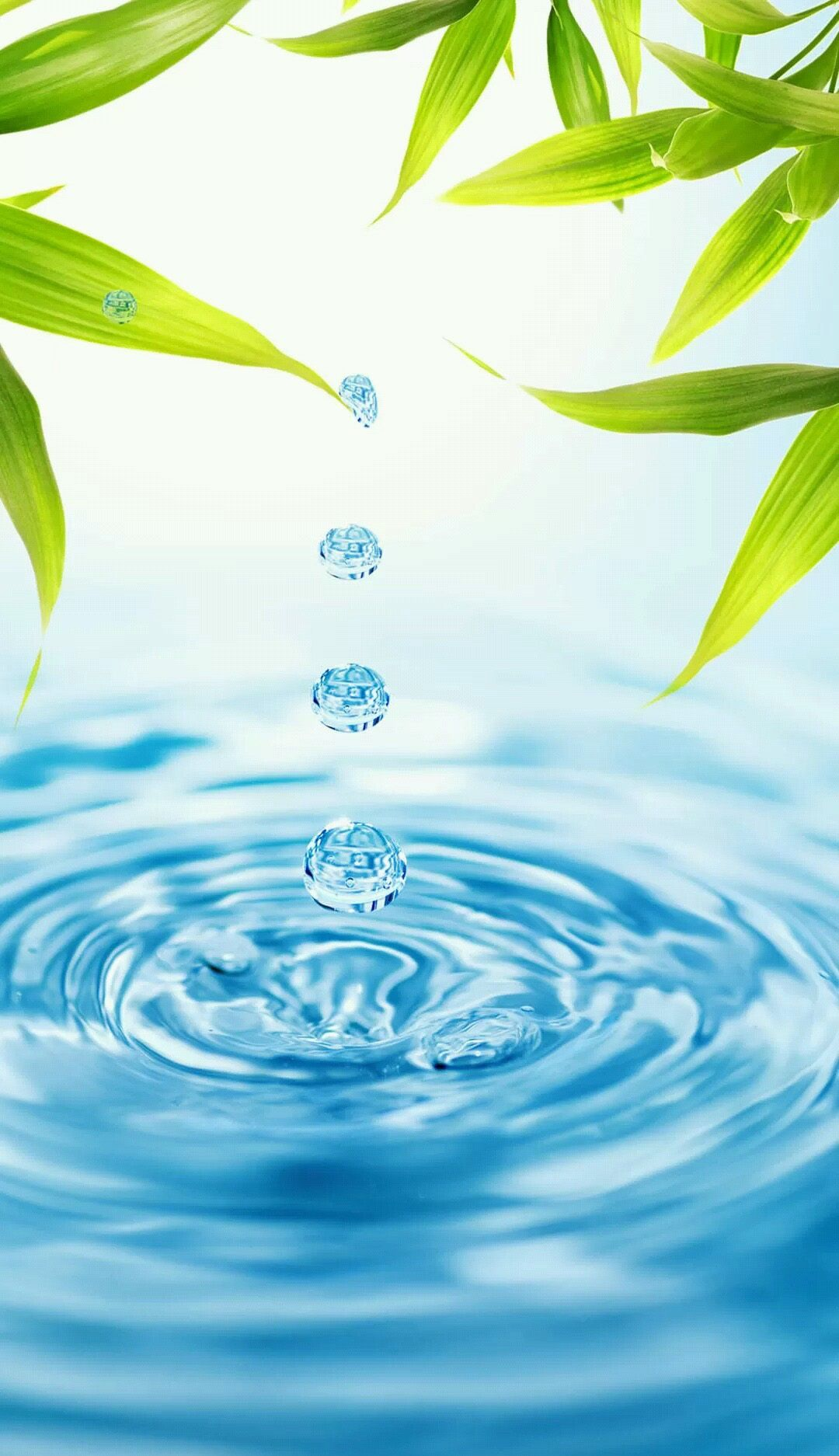 Bamboo 3d Lock Screen Hd 1080x1920 Samsung Galaxy Note 3 Wallpaper Android Urdu Water Droplets Water Background Water Images