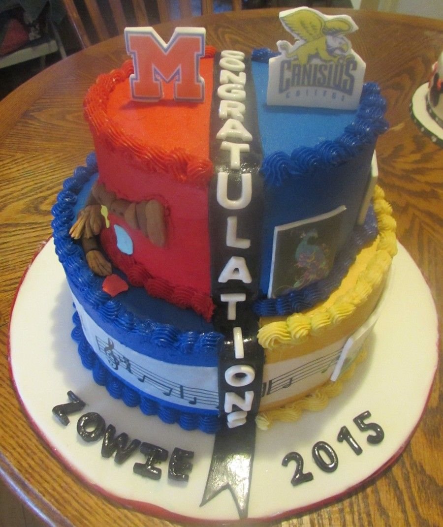 High School College Graduation Cake With Images College