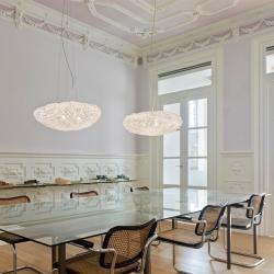 Photo of Arturo Alvarez Designer-Pendelleuchte Tati Ø 57cm in Weiß Tati Ta04 white Kabel transparentWohnlicht