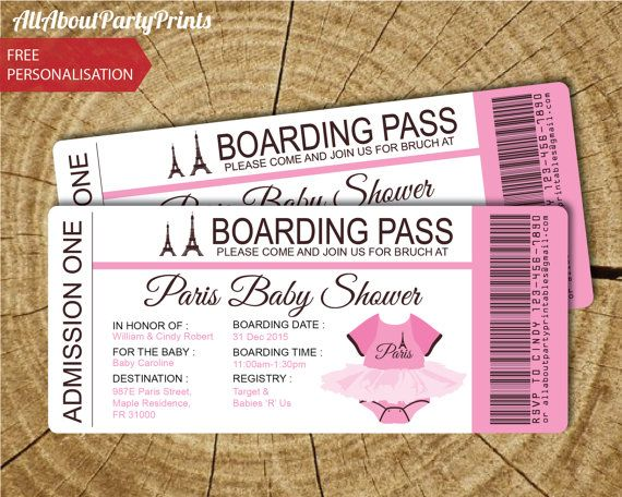 Paris baby shower passport and boarding pass invitation invitation paris baby shower passport and boarding pass invitation invitation printable jpeg format printables digital file filmwisefo Image collections