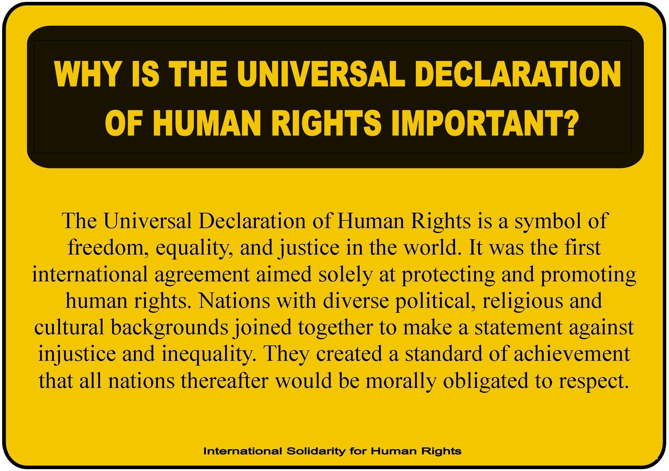 Why Is The Universal Declaration Of Human Rights Important Declaration Of Human Rights Human Rights Human