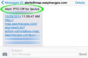 tow fleet gps tracking pto activity pto off for device tow