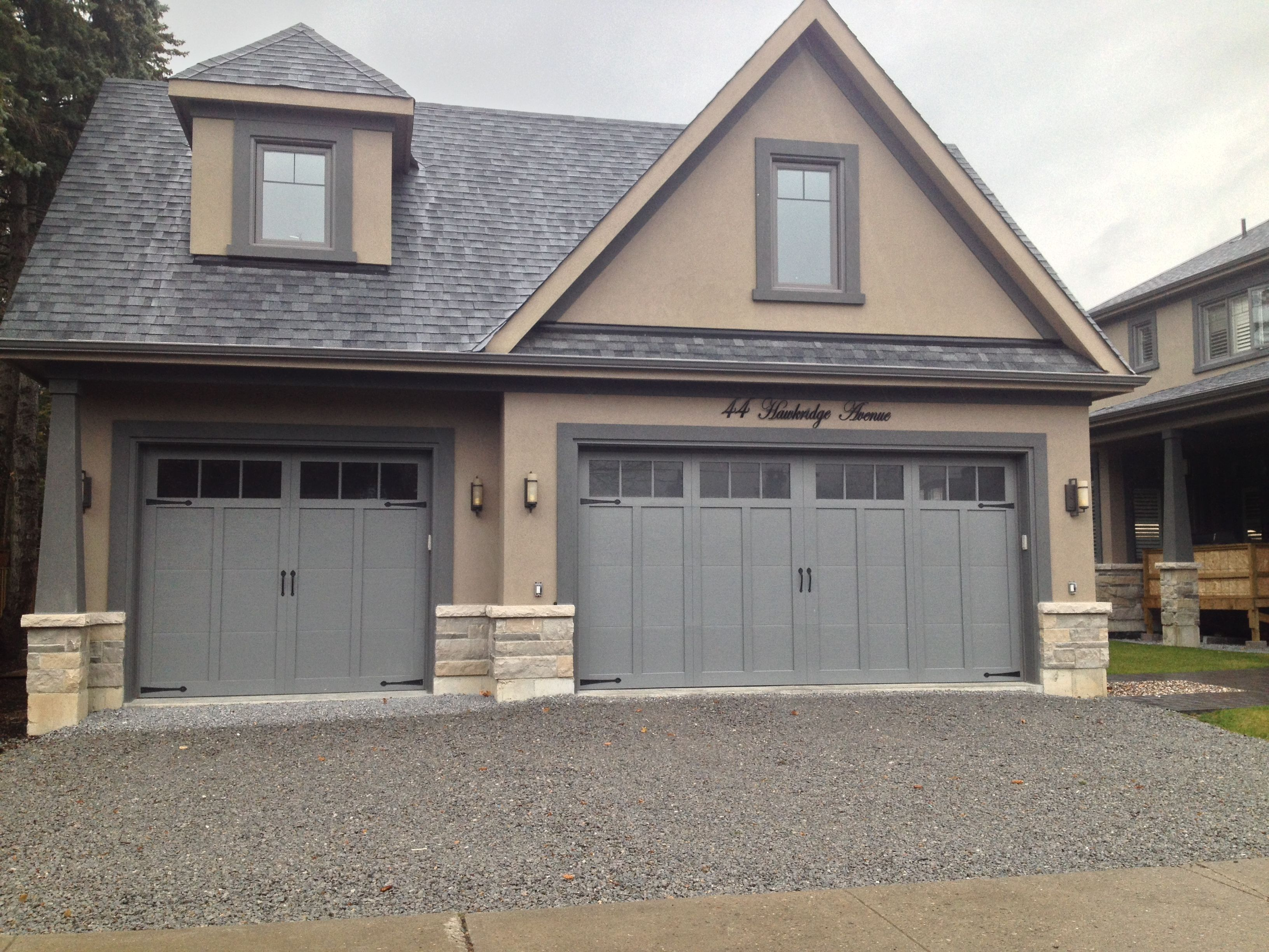 carriage house double doors charcoal grey American traditions Haas Door & carriage house double doors charcoal grey American traditions Haas ...