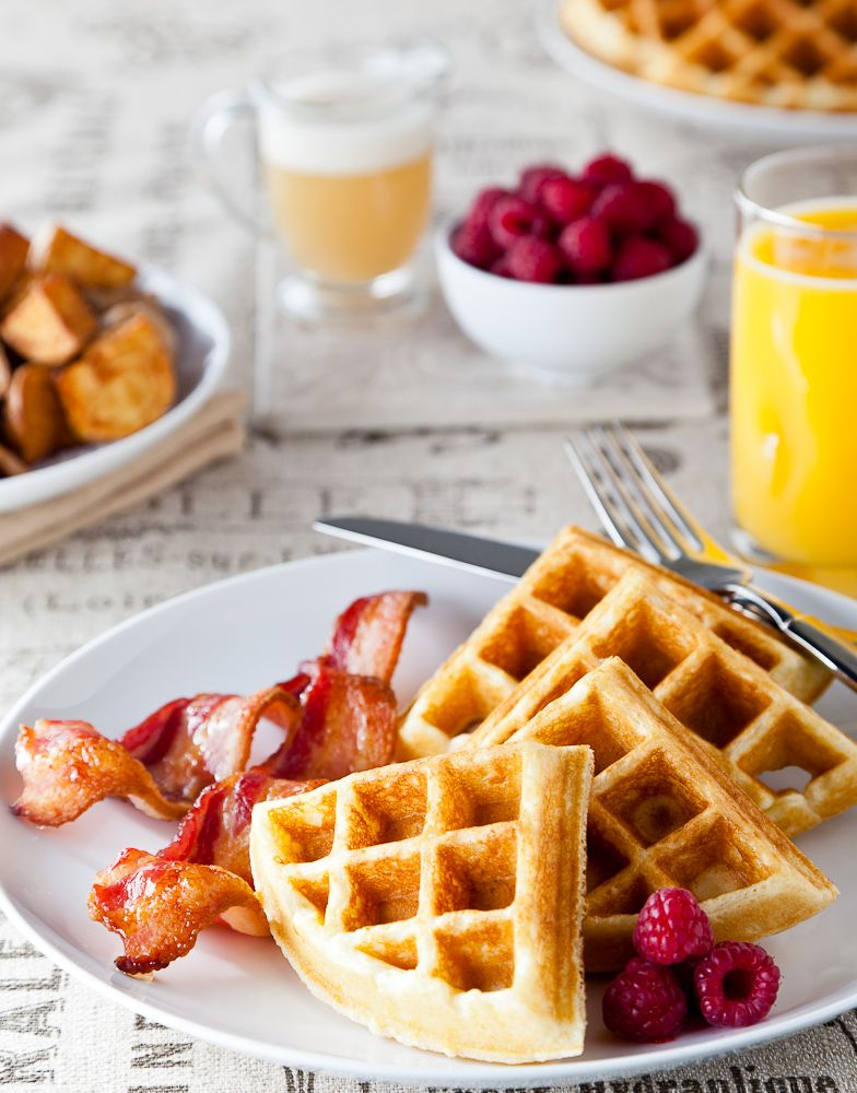 These are some amazing Crispy Buttermilk Waffles