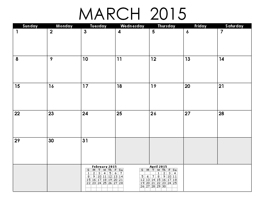 Blank Calendar Pages 2015 March Printable Pinterest Blank Calendar