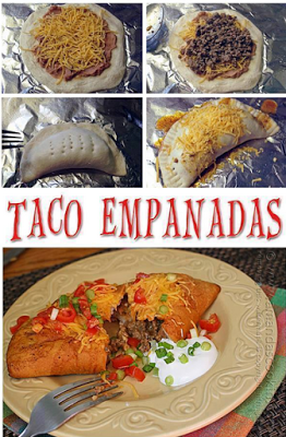 Best Cooking Recipes: TACO EMPANADAS