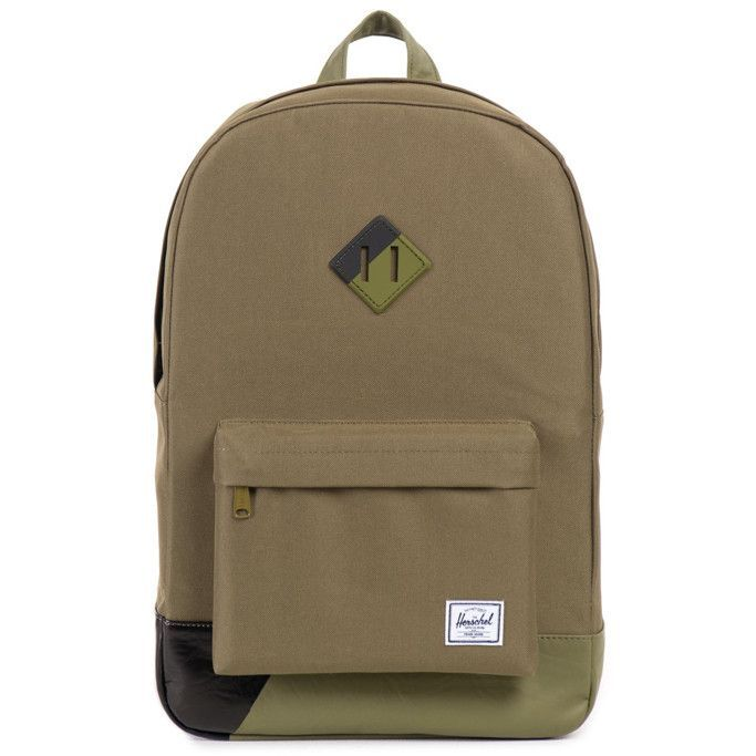 d492528b811 Herschel Supply Co. Heritage Backpack - Army Army PU Black Print ...
