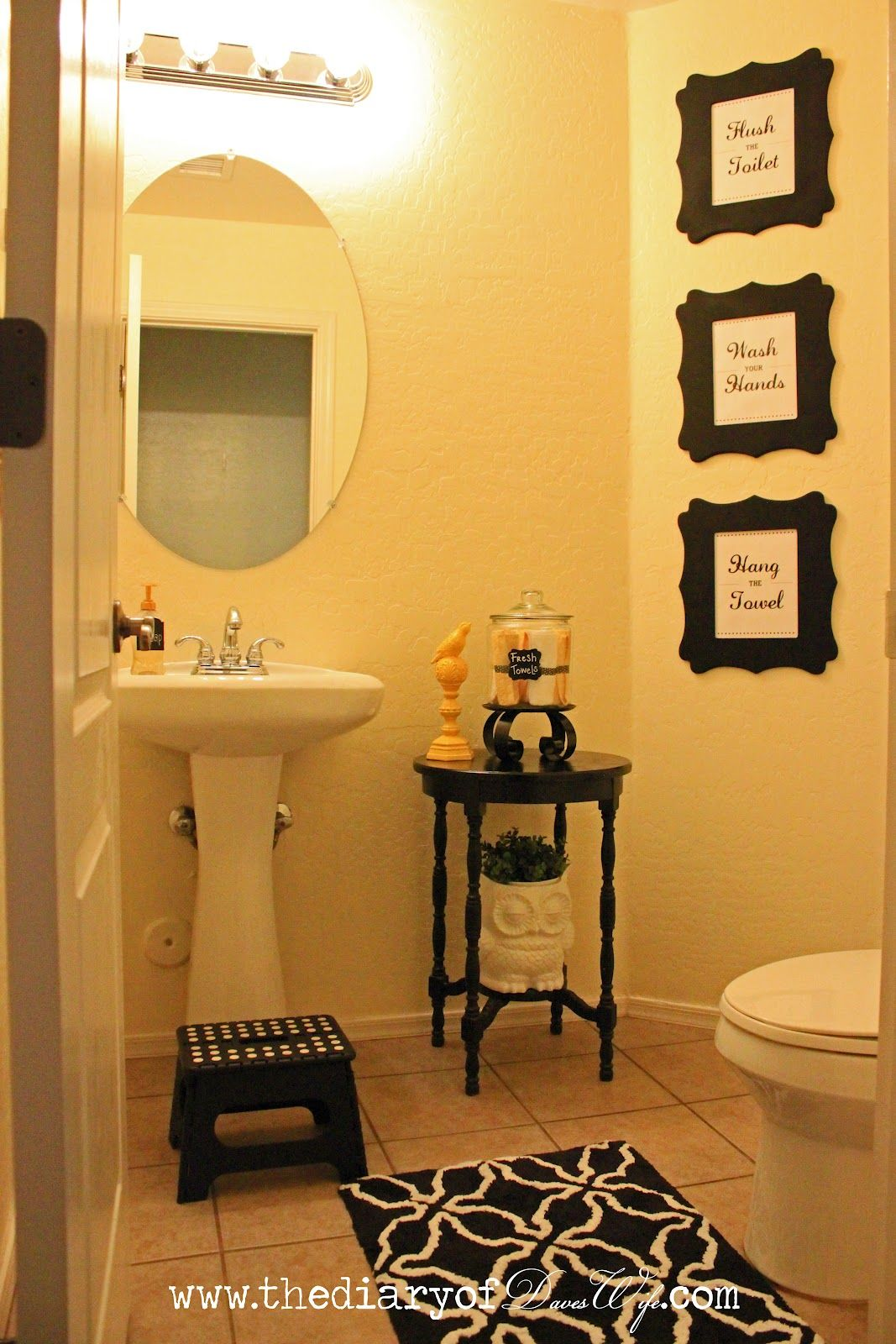 the diary of daveswife my guest bathroom reveal wedding. Black Bedroom Furniture Sets. Home Design Ideas