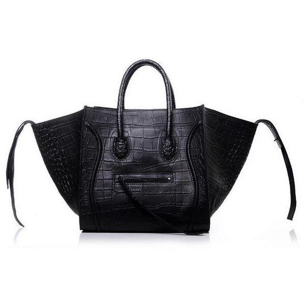 Fake Handbags Online Uk 3341 Celine Luggage Phantom Croc Replica 224 Liked On Polyvore Featuring Bags Croco Bag Imitation