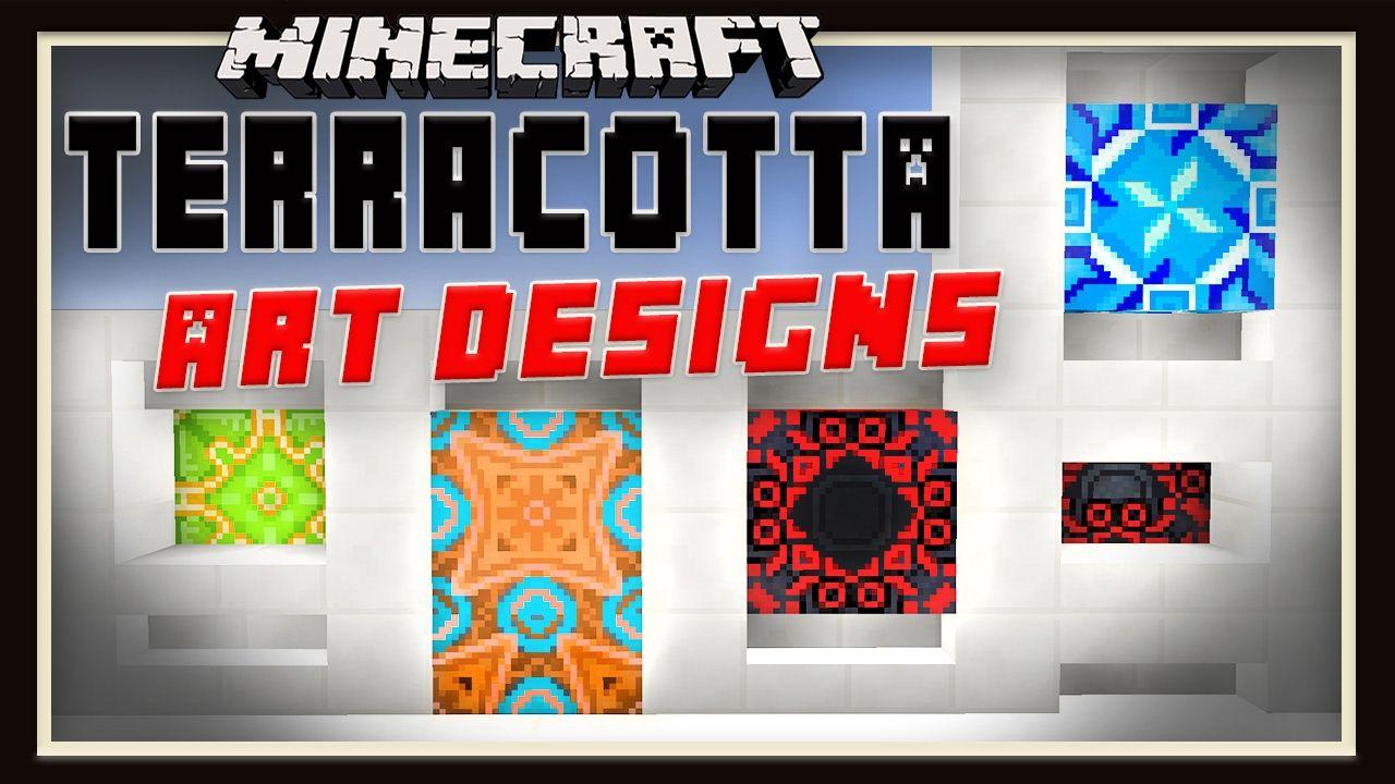minecraft: how to make terracotta block art designs