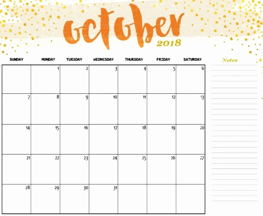 Best Of 44 Illustration October Printable Calendar 2019 Tumblr