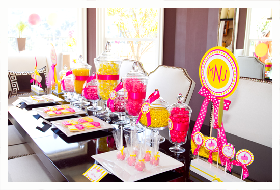 love this pink and yellow theme for a party just need to find - Someone Decorating For A Party