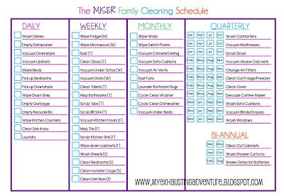JulieS Exhausting Adventure Cleaning Checklist  Home And Garden