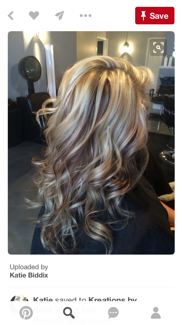 Beautiful white blonde highlights with chocolate brown lowlights