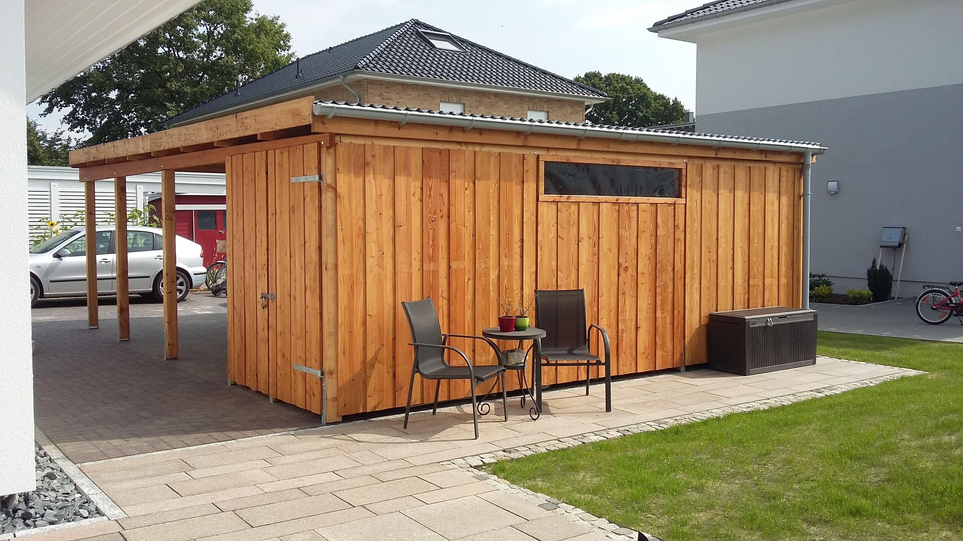 carport in l rche mit abstellraum carport l rche. Black Bedroom Furniture Sets. Home Design Ideas