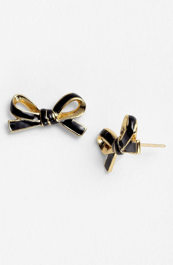 kate spade bow earrings.   My Fantasy Wardrobe   Pinterest   Bow ...