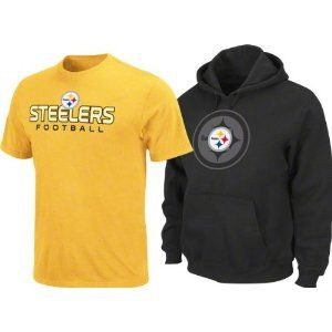pretty nice 01e3e 55549 Amazon.com: Pittsburgh Steelers Gold T-Shirt And Black ...