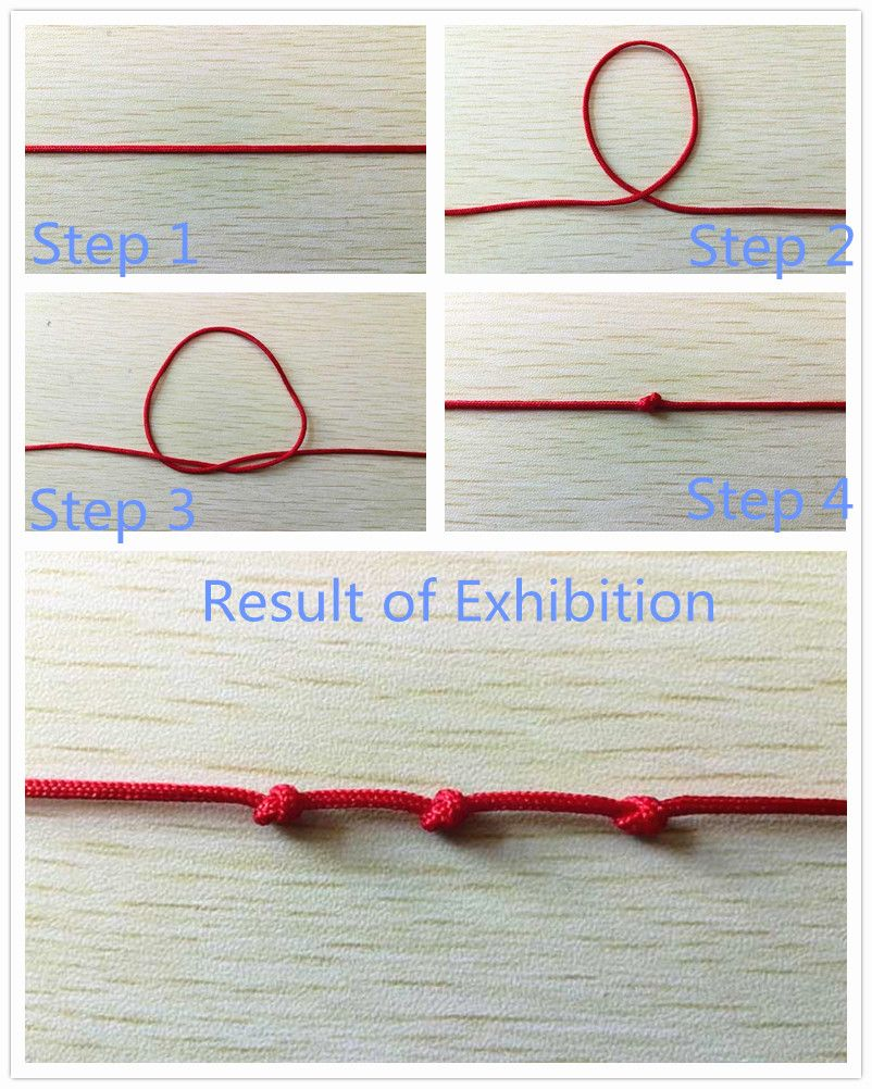 Overhand knot tutorial – how to tie a overhand knot