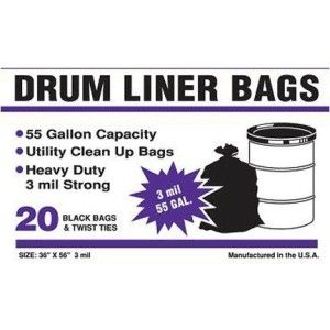 5e3f596b8cbc7 Drum Liners, 55-Gallon 3mil, 20-Count | Contractor Bags and Trash ...