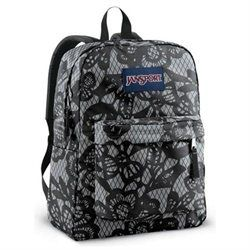 JanSport SuperBreak Backpack (New Storm Grey Black Lacis) (00053329261270) The pack that started it all! The SuperBreak by JanSport is the #1 selling backpack in the world!